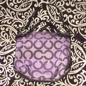Coach purple bag in great condition
